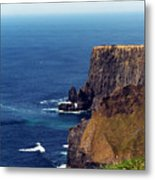 Waves Crashing At Cliffs Of Moher Ireland Metal Print