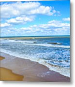 Waves Lapping On Beach 3 Metal Print