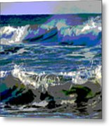 Waves Of Delight Metal Print
