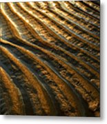 Waves Of Gold Metal Print