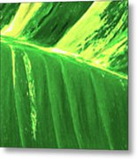 Waves Of Green Metal Print