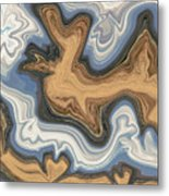 Waves Of Heart Metal Print