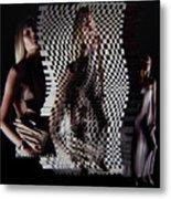 Waves Of Light And Shadow Metal Print