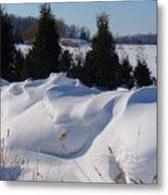 Waves Of Snow Metal Print