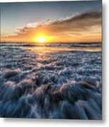 Waves Of The Sunset Metal Print