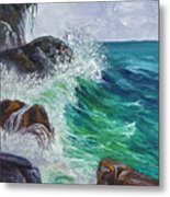 Waves On Maui Metal Print