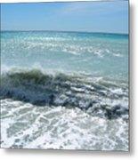 Waves On The Beach Metal Print