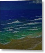 Waves Metal Print by Ron Sylvia