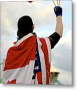 Waving The Flag Metal Print