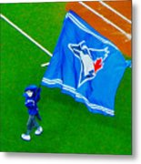 Waving The Flag For The Home Team      The Toronto Blue Jays Metal Print