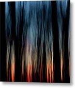 Wavy Sunset Metal Print