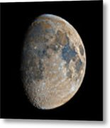 Waxing Gibbous Moon / Day 11 Metal Print