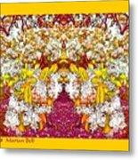 Waxleaf Privet Blooms In Autumn Tones Abstract Metal Print