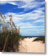 Way Out To The Beach Metal Print