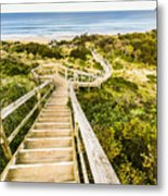 Way To Neck Beach Metal Print
