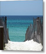 Way To The Beach Metal Print