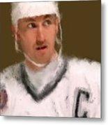 Wayne Gretzky Kings Portrait Metal Print