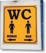 Wc Sign, Croatia Metal Print