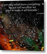 We  All Not Only  Could Know Everything... Metal Print