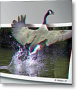 We Have Liftoff - Use Red-cyan 3d Glasses Metal Print