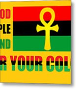 Wear Red Black And Green Metal Print