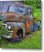 Wears Valley 1954 Gmc Wears Valley Tennessee Art Metal Print