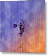 Weather Vane Sunset Metal Print
