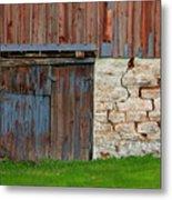 Weathered Barn Door Metal Print