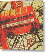 Weathered Bus Routes Metal Print