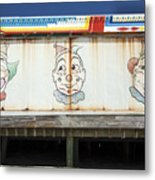 Weathered Clowns Metal Print
