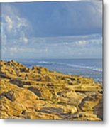 Weathered Coquina Ocean Rocks Metal Print