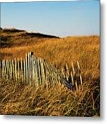 Weathered Dune Fence. Metal Print
