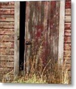 Weathered Entrance Metal Print