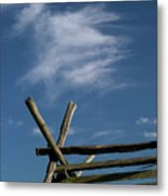 Weathered Fence Metal Print by Judi Quelland