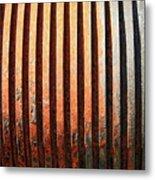 Weathered Metal With Rows Metal Print