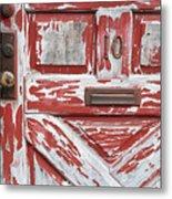 Weathered Red Door 1 Metal Print
