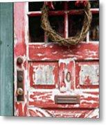 Weathered Red Door 3 Metal Print