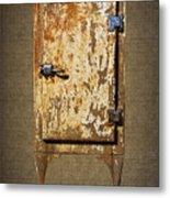 Weathered Rusty Refrigerator Metal Print