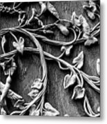 Weathered Wall Art In Black And White Metal Print