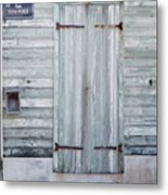 Weathered Wooden Door In France Metal Print