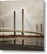 Weathering Weather At The Indian River Inlet Bridge Metal Print