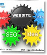 Web Design And Development Company In Adelaide  Metal Print