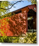 Webster/dick Huffman Covered Bridgesw Of Putnamville, Washingto Metal Print