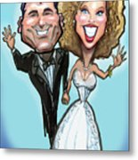 Wedding Cake Dolls Metal Print