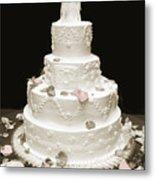 Wedding Cake Petals Metal Print