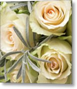 Wedding Flowers Metal Print by Wim Lanclus