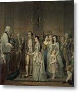 Wedding Of George Washington And Martha Metal Print by Everett