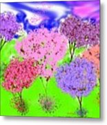 Wedding Of Trees Metal Print