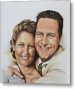 Wedding Portrait Jeremy N Katie Metal Print