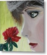 Wedding Rose Metal Print